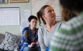 Women in recovery at Linda Fay Griffen House in Worcester